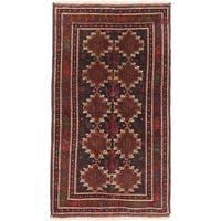Ecarpetgallery Finest Rizbaft Black, Brown Wool Geometric Rug Rectangular - 3'10 x 6'10