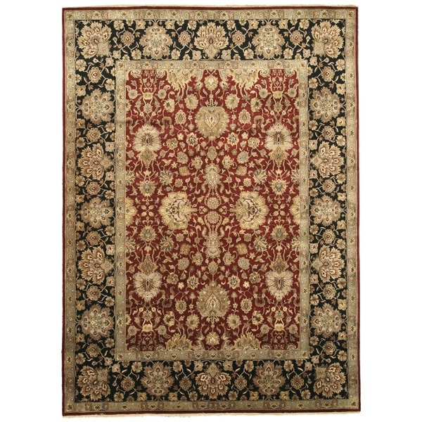 Shop Hand Knotted Wool Red Traditional Oriental Jaipur Rug