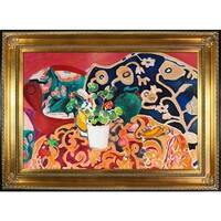 Henri Matisse 'Spanish Still Life' Hand Painted Framed Canvas Art