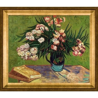 Vincent Van Gogh 'Majolica Jar with Branches of Oleander' Hand Painted Framed Canvas Art