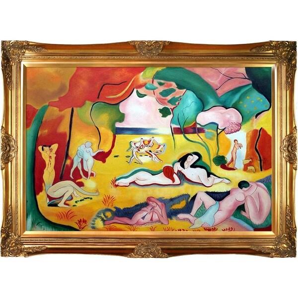 Henri Matisse 'The Joy of Life' Hand Painted Framed Canvas Art