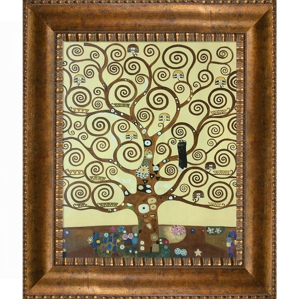 Zz1597 Wall Art Decoration Painting Gustav Klimt Big Tree: Shop Gustav Klimt 'Tree Of Life' Hand Painted Framed