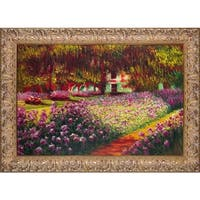 Claude Monet 'Artists Garden at Giverny' Hand Painted Oil Reproduction