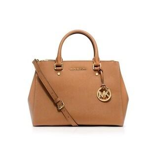 Michael Kors Sutton Peanut Medium Saffiano Leather Satchel Handbag