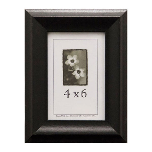 shop verona narrow picture frame 4 inches x 6 inches free shipping on orders over 45. Black Bedroom Furniture Sets. Home Design Ideas