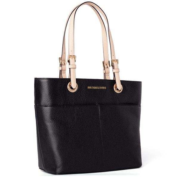 b62905af15cc Shop Michael Kors Bedford Black Top Zip Pocket Handbag Tote - Free ...