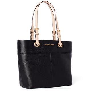 Michael Kors Bedford Black Top Zip Pocket Handbag Tote|https://ak1.ostkcdn.com/images/products/9973660/P17126106.jpg?impolicy=medium