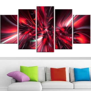 DesignArt 'Red Implosion' Canvas Art Print