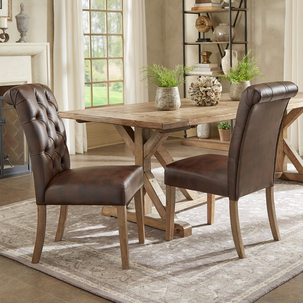 Parsons Dining ChairsPinterest Challenge Parsons Chair  : Benchwright Premium Tufted Rolled Back Parsons Chairs Set of 2 by iNSPIRE Q Artisan 335a1e38 2792 41f5 8f63 5d020c59fc83600 from algarveglobal.com size 600 x 600 jpeg 101kB