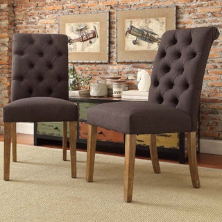 Benchwright Premium Tufted Rolled Back Parsons Chairs (Set of 2) by iNSPIRE Q Artisan (4 options available)
