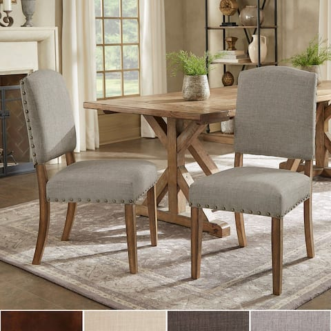 Benchwright Upholstered Dining Chairs (Set of 2) by iNSPIRE Q Artisan