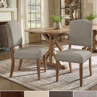 Benchwright Premium Nailhead Upholstered Dining Chairs (Set of 2) by iNSPIRE Q Artisan|https://ak1.ostkcdn.com/images/products/9973713/P17126137.jpg?impolicy=medium