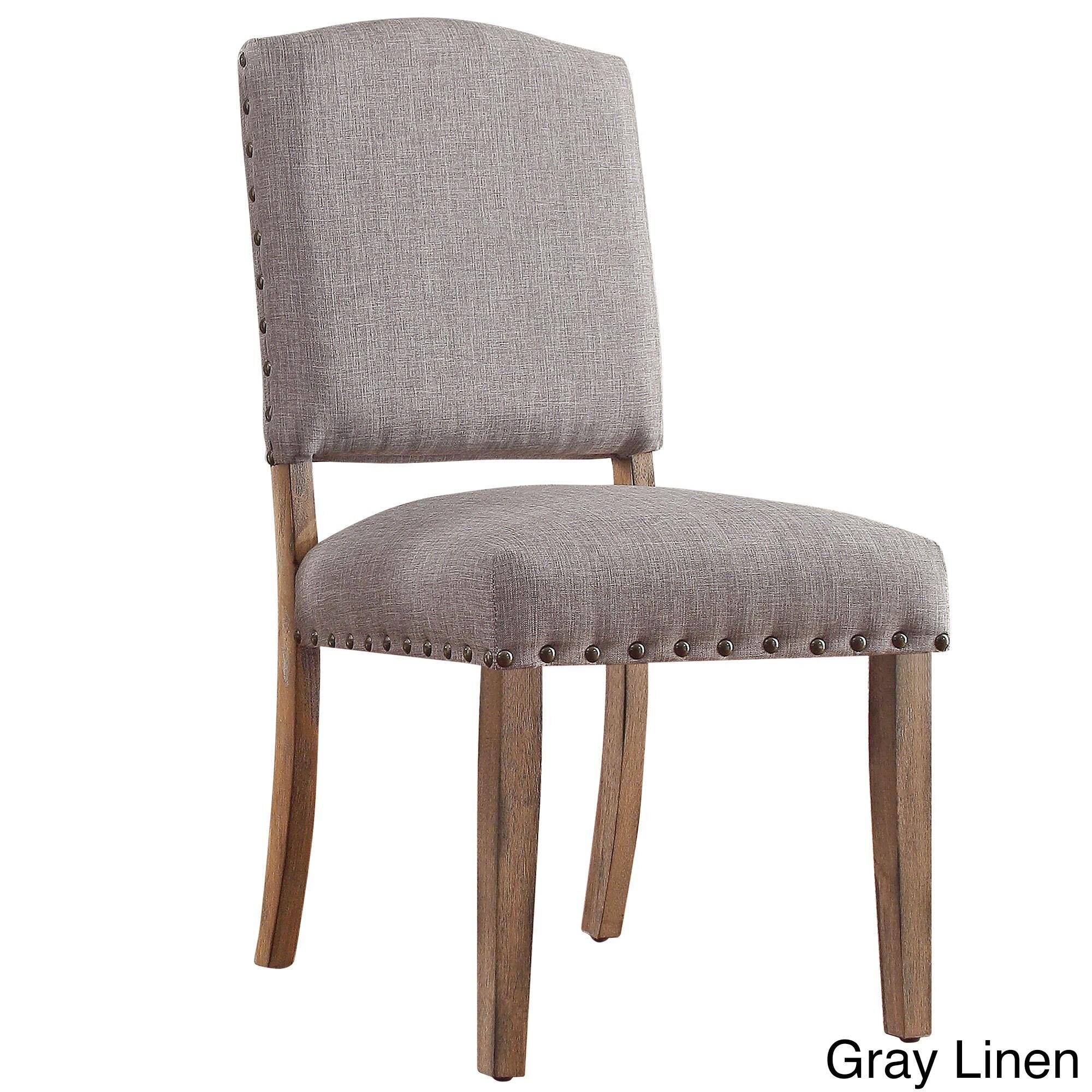Benchwright Premium Nailhead Upholstered Dining Chairs (S...