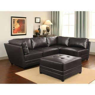 ABBYSON LIVING Victoria 5-piece Leather Modular Sectional