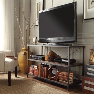 TRIBECCA HOME Harrison Industrial Rustic Pipe Frame TV Stand