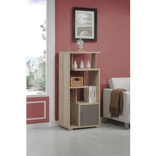 Helsa Light Oak Finished Bookcase with Door