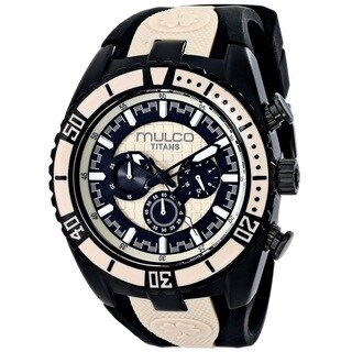 Mulco Women's MW51836115 'Titans Wave' Chronograph Black Rubber Watch