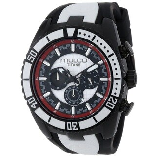 Mulco Women's MW51836026 'Titans Wave' Chronograph Black Rubber Watch