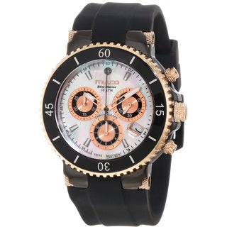 Mulco Women's MW370604021 'Blue Marine' Chronograph Black Rubber Watch