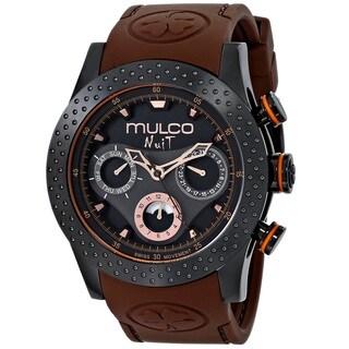 Mulco Women's MW51962035 'Nuit Mia' Chronograph Brown Rubber Watch