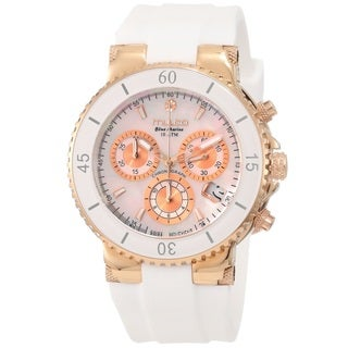Mulco Women's MW370604013 'Blue Marine' Chronograph White Rubber Watch