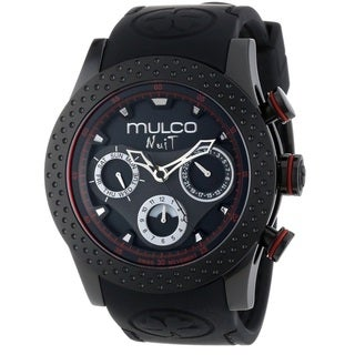 Mulco Women's MW51962261 'Nuit Mia' Chronograph Black Rubber Watch