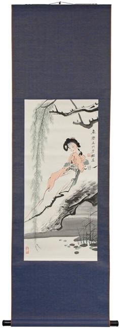 Handmade Reclining Beauty Scroll (China)