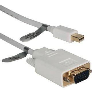 QVS 6ft Mini DisplayPort to VGA Video Cable
