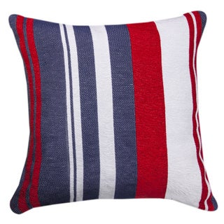 Red/ White/ Blue Striped Throw Pillow