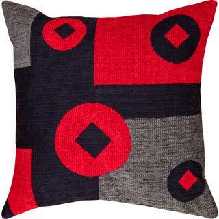Geometric Red Throw Pillow