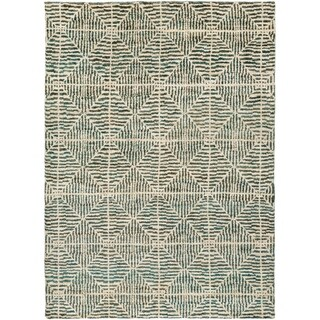 Hand-Knotted Forrest Hemp Rug (8' x 11')