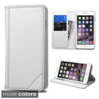 Insten Plain Leather Phone Case Cover with Stand/ Wallet Flap Pouch For Apple iPhone 6 Plus