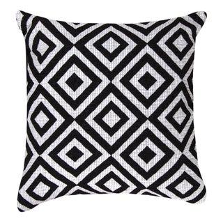 Black and White Diamond Throw Pillows
