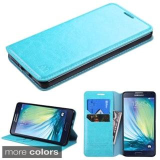 Insten Plain Leather Phone Case Cover with Stand/ Wallet Flap Pouch For Samsung Galaxy A7
