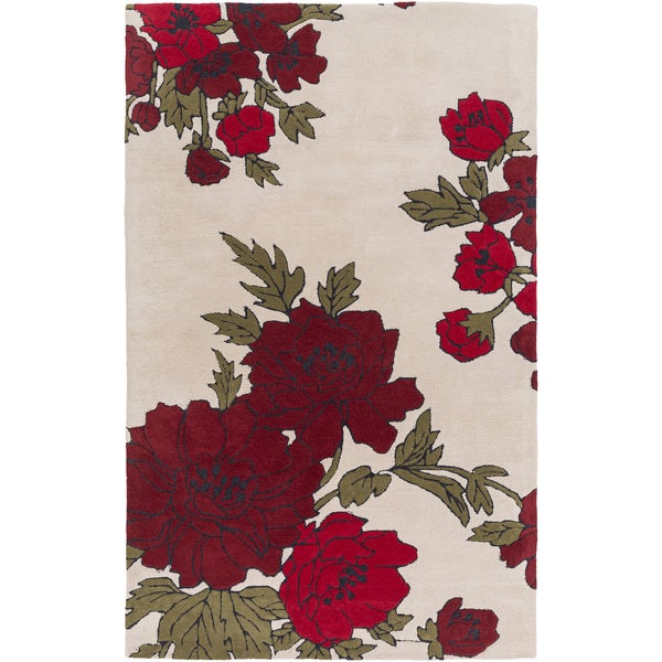 Hand-Tufted Dolores Floral Indoor Area Rug (2' x 3')