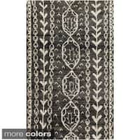 The Curated Nomad Clarendon Tribal Hand-knotted Jute Area Rug - 8' x 11'