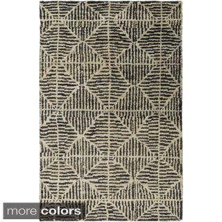 Hand-Knotted Forrest Geometric Jute Rug (8' x 11')