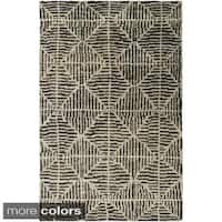 The Curated Nomad Clarendon Handmade Geometric Jute Area Rug - 8' x 11'