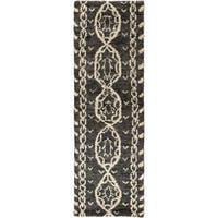 The Curated Nomad Clarendon Tribal Hand-knotted Jute Runner Rug - 2'6 x 8'