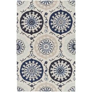 Hand-Tufted Daphne Medallion Wool Rug (3'3 x 5'3)