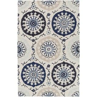 Hand-Tufted Daphne Medallion Wool Area Rug (5' x 8') - Thumbnail 0