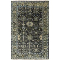 Hand-Knotted Darnell Floral New Zealand Wool Area Rug (5'6 x 8'6) - 5'6 x 8'6'
