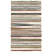 Hand-Woven Tommy Stripe Reversible Area Rug (5' x 7'6)