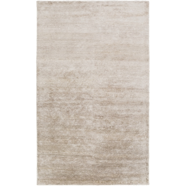Hand-Knotted Juliette Solid Banana silk Area Rug