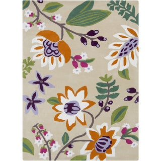 Hand-Tufted Floral Wool Rug (8' x 11')