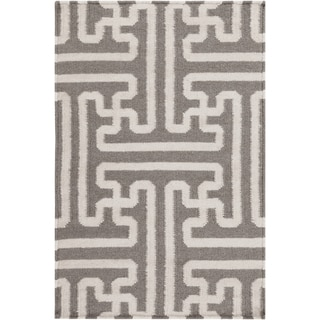 Link to Hand-Woven Geometric Wool Area Rug - 9' x 13' Similar Items in Rugs