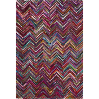 Hand-Hooked Callie Geometric Pattern Indoor Rug (2' x 3')