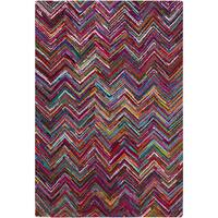 Hand-Hooked Callie Geometric Pattern Indoor Area Rug (2' x 3')