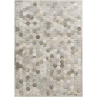 Hand-Crafted Cesar Geometric Hair On Hide Area Rug - 5' x 8'