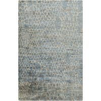 Hand-Knotted Frances Abstract Jute Area Rug - 8' x 11'